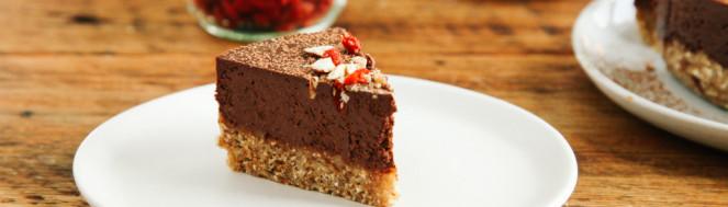 "Пирог с миндалем ""Шоколад"""
